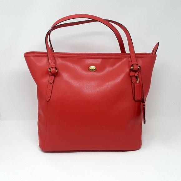 66befd16700 Coach Bags   Peyton Red Leather Tote Carryall Handbag   Poshmark